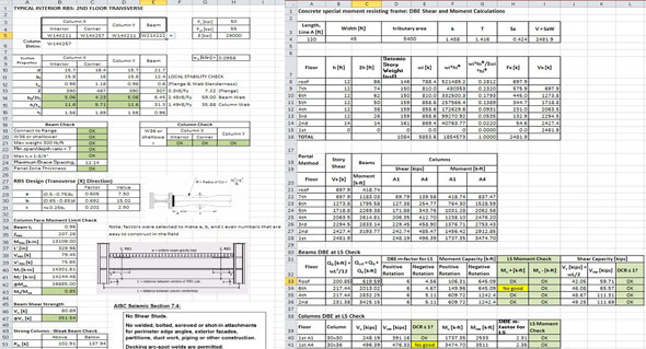 Spreadsheet For Civil Engineering | Spreadsheet For