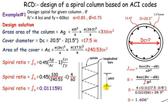 Spiral Reinforced Column Reinforced Concrete Column