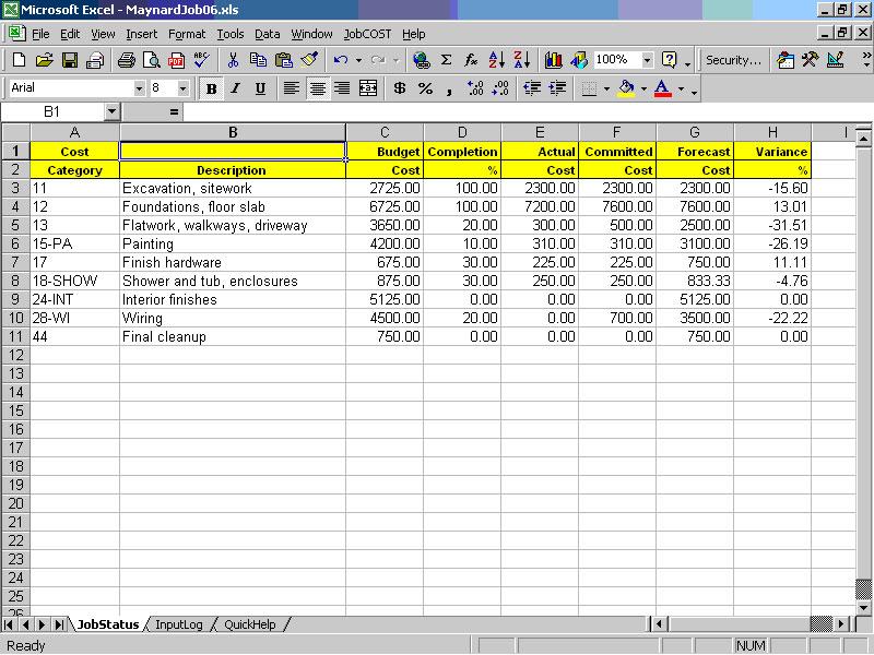 cost sheet format pdf download