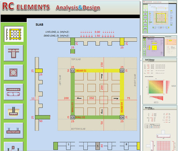 ... concrete design   elements analysis and design spreadsheet
