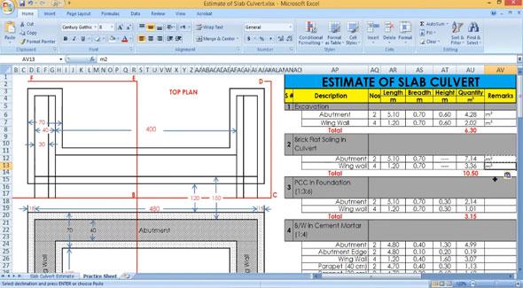 Rcc Slab Culvert Estimate Design Of Slab Culvert