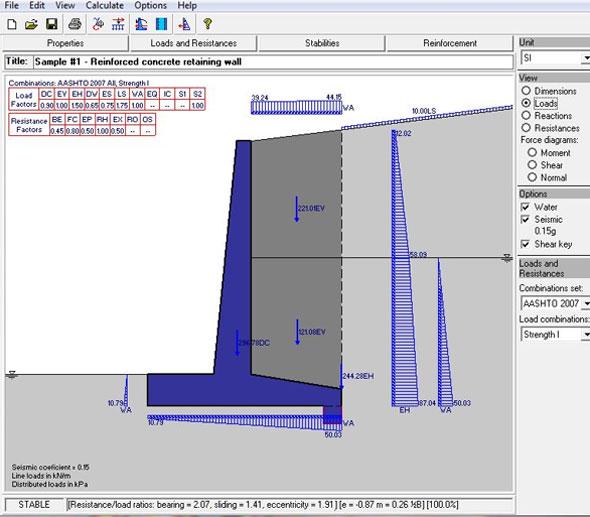 Retaining Wall Design Software