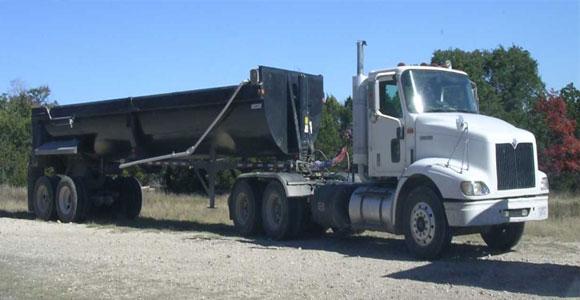 Construction Equipment Semi Trailer End Dump Truck