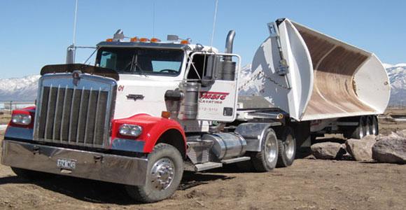 End Dump Truck >> Construction Equipment Semi Trailer End Dump Truck