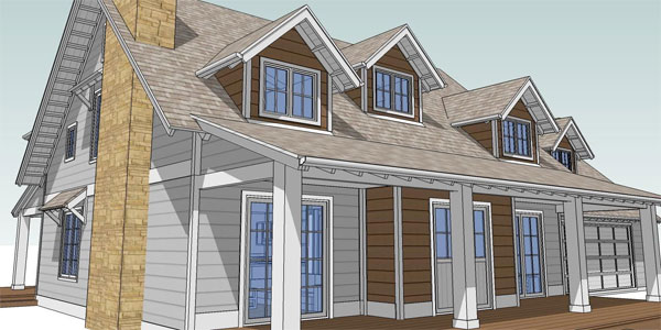 & Design an Attic Roof Home with Dormers using Sketchup