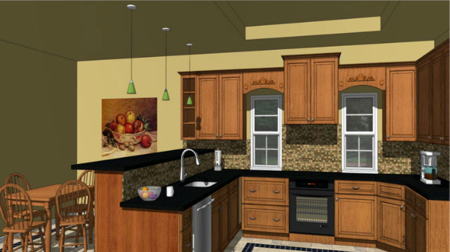 Sketchup video make your kitchen designing process for Sketchup kitchen design