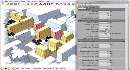 Sketchup plugin, sketchup parametric urban design, 3d urban