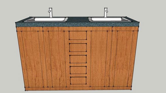 Sketchup Components 3d Warehouse Double Bathroom Vanity
