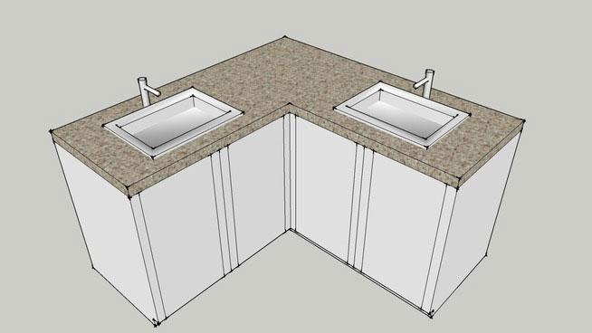 sketchup components 3d warehouse corner bathroom sinks