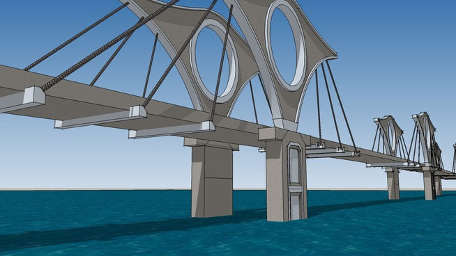 Sketchup Components 3D Warehouse - Bridge   Sketchup 3D