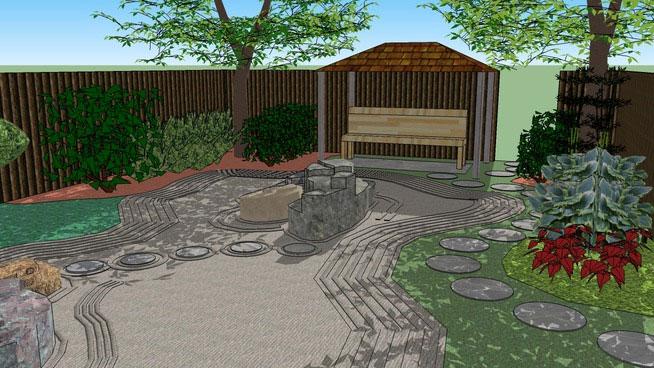 Sketchup Components 3D Warehouse - Zen Garden