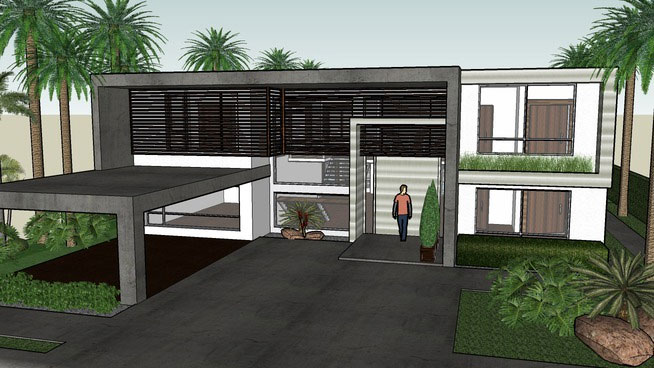 Sketchup components 3d warehouse modern house