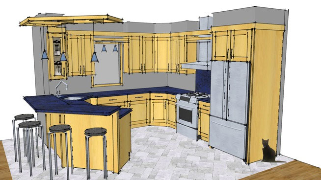 Sketchup Components 3D Warehouse - Kitchen | Sketchup 3D