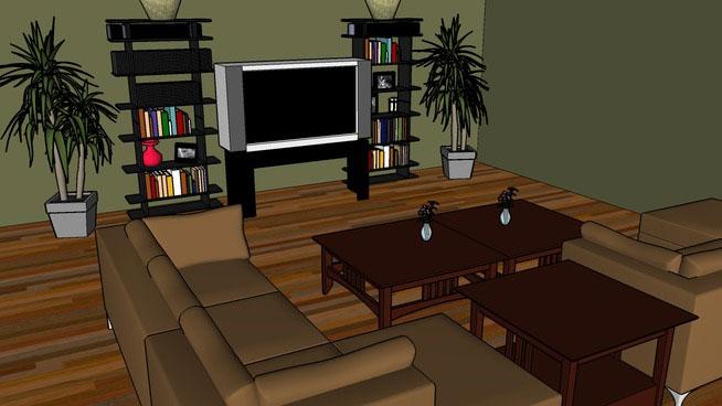 Sketchup Components 3d Warehouse Modern Sleek Living Room