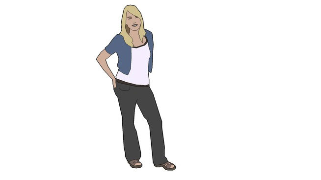 Sketchup Components 3D Warehouse : 2d person People