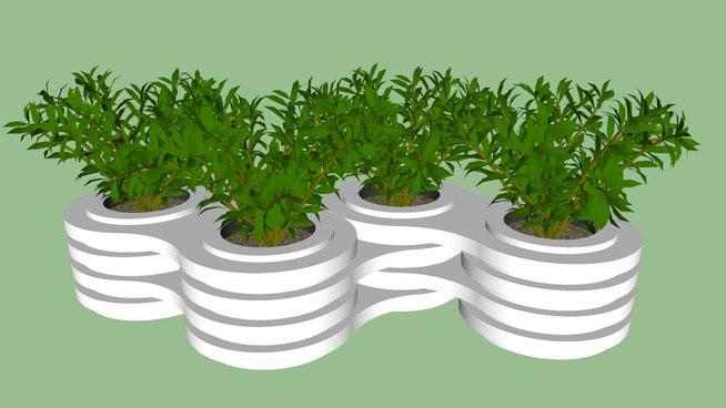 Sketchup Components 3D Warehouse - Modern Plant Pot Design