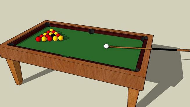 Sketchup Components 3d Warehouse Pool Table Sketchup